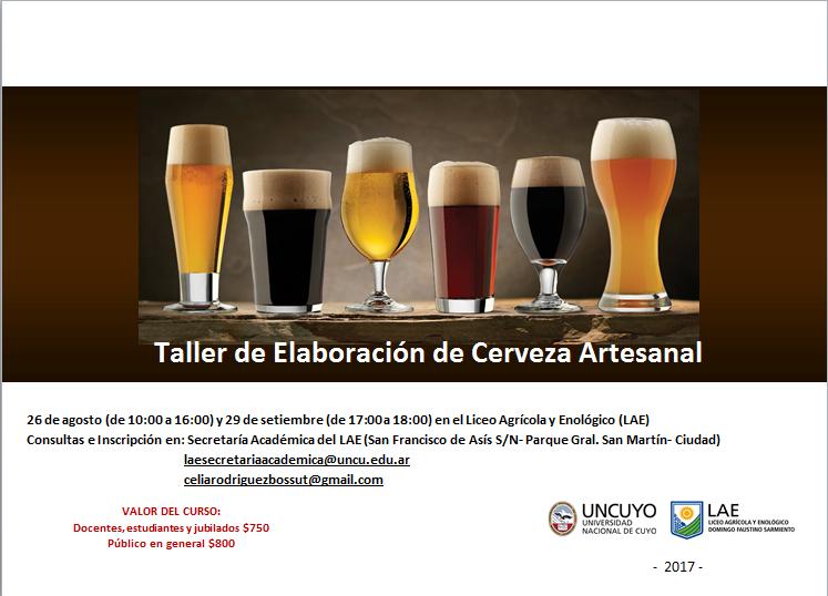 TALLER DE CERVEZA ARTESANAL